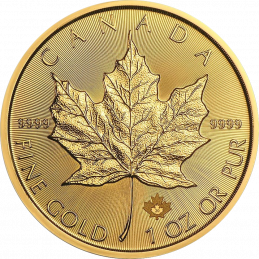 1 UNZE GOLD MAPLE LEAF...